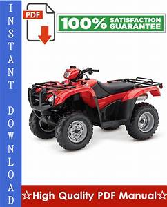 Download Honda Foreman Repair Manual  Repair Manual  Honda