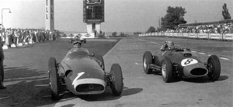 1957 german gp nurburgring juan manuel fangio maserati 250f winner and mike hawthorn