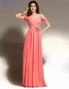 Aliexpresscom buy vestidos de madrinha coral colored for Robe corail demoiselle d honneur