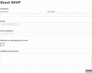 Event rsvp for Rsvp template for event