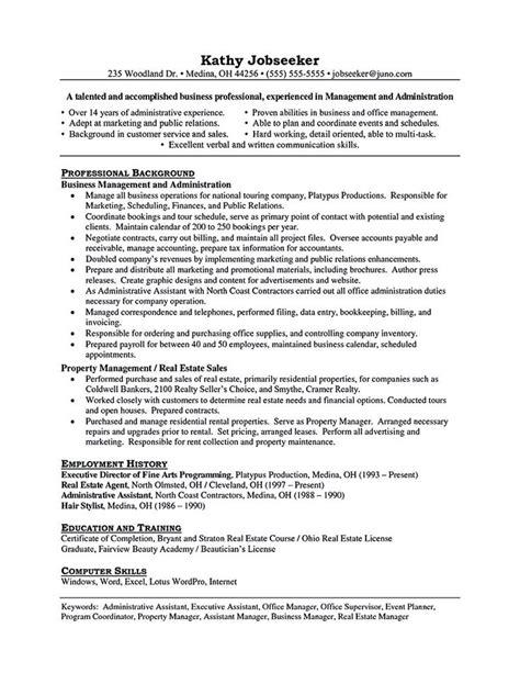 property manager resume sle property manager resume