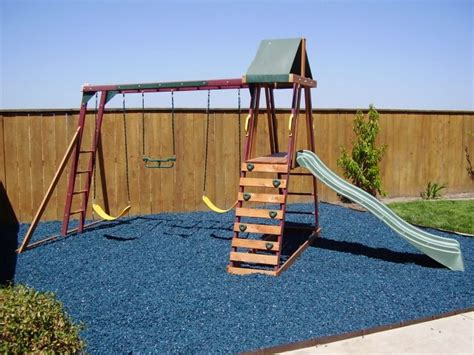 Backyard Playground Ground Cover by Rubber Bark By Rubber Ground Cover Rubber Mulch Shredded