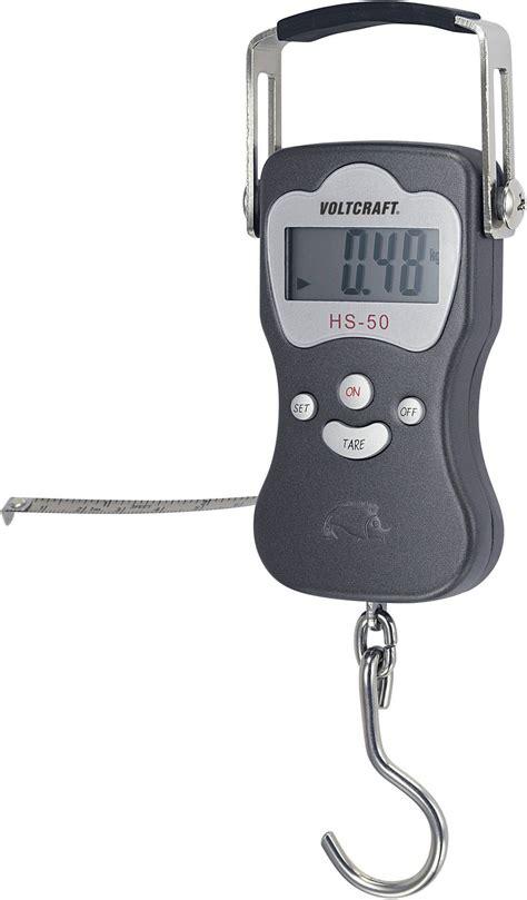 voltcraft hs  hangweegschaal weegbereik max  kg resolutie   conradnl