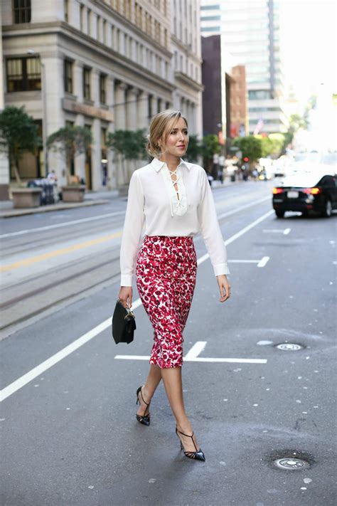 summer floral blouse floral midi skirt and lace up blouse memorandum nyc