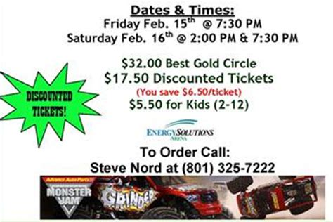 monster truck show tickets prices giveaway monster jam truck rally in slc on 2 16 at 2pm