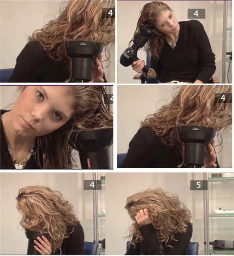 comment secher les cheveux boucles avec  diffuseur pour