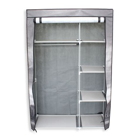 temporary clothes storage solutions 42 quot portable non woven canvas closet wardrobe clothes storage rack 5 shelves ebay