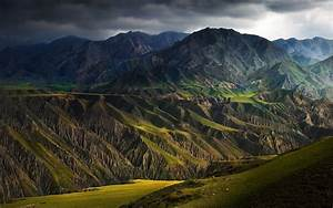Nature, Landscape, Mountains, Canyon, Dark, Clouds, Storm, Summer, Sunlight, China, Wallpapers, Hd