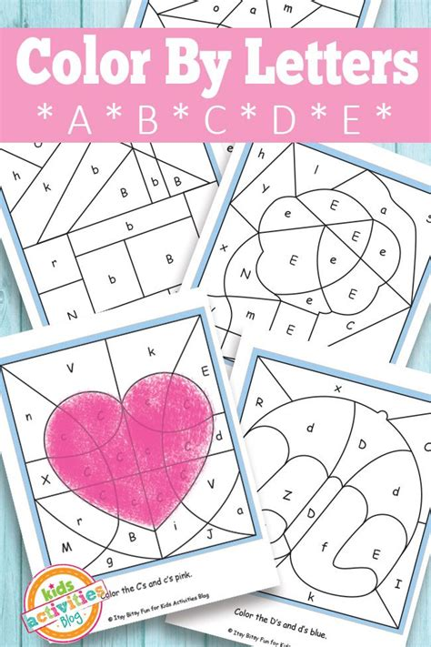 color by letters a b c d e free printable 657 | ad5004edf2aa25b0a9222ed5f35819af