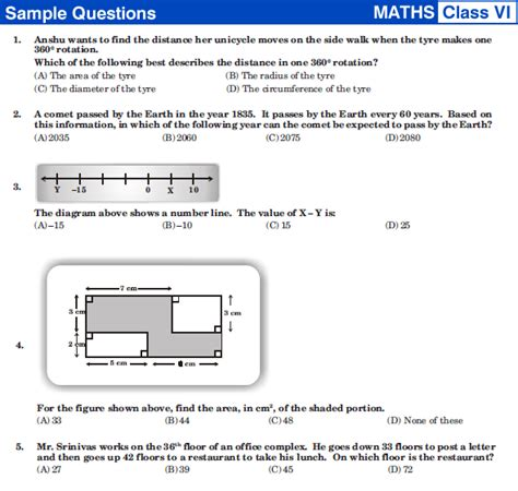 Nstse Class 6 Maths Sample Papers  Sample,previous Papers,free Books,tips Of Ntse,gate,gmat And