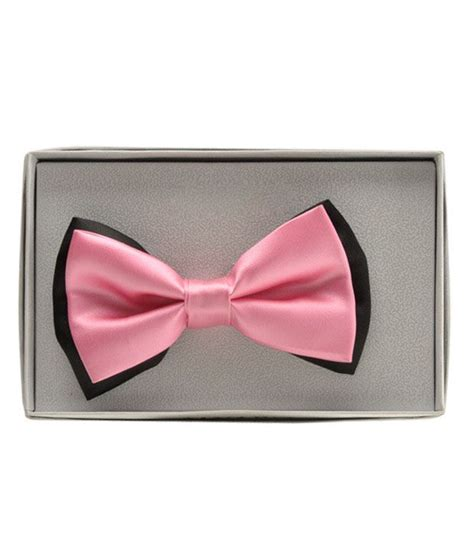 Light Pink Bow Tie by Alvaro Light Pink And Black Bow Tie Buy At Low