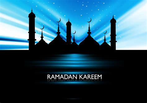 silhouette  mosque  ramadan kareem card