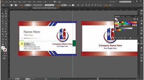 design  double sided business card  adobe