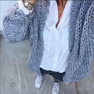 Gilet Laine Homme Grosse Maille : gilet gris grosse maille laine et tricot ~ Melissatoandfro.com Idées de Décoration