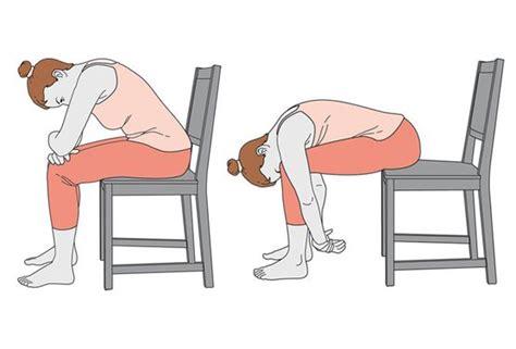 exercice chaise trois exercices de sur une chaise pour mieux dormir