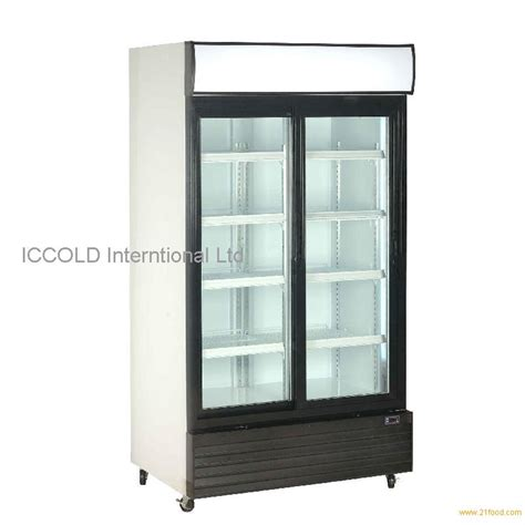 800l sliding door display cooler from china
