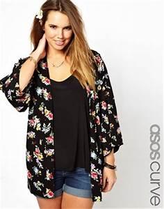 asos curve asos curve exclusive kimono jacket in floral With robe pour femme avec du ventre