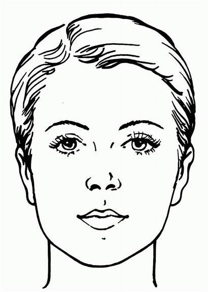 Coloring Face Sheets Wajah Sketsa Gambar Makeup