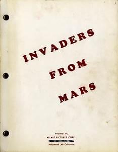 INVADERS FROM MARS (1953) Draft script by John Tucker ...