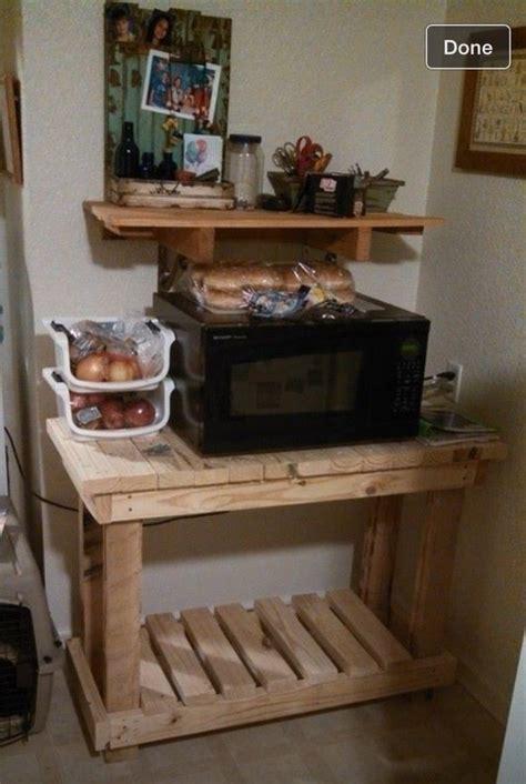 pallet microwave stand diy pallet furniture