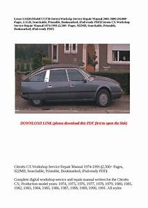 Citroen Cx Workshop Service Repair Manual 1974 1991  2 500