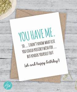 Birthday Card Funny Boyfriend Card Funny by FlairandPaper ...