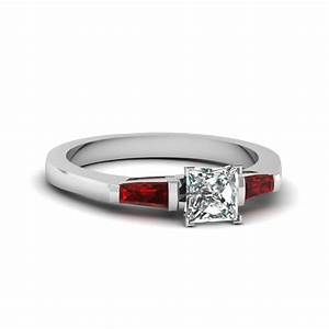 princess cut diamond tapered baguette engagement ring with With baguette wedding ring