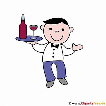 Kellner Clipart Berufe Bild Verschiedene Garson Cameriere