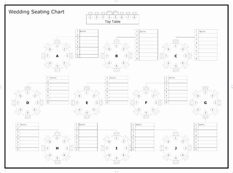 wedding seating chart template excel exceltemplates