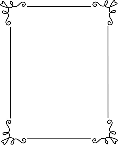 template for a funeral program simple black frame free clip