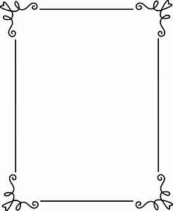 Simple Elegant Black Frame - Free Clip Art