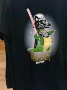 themed photo booth darth gator shirt