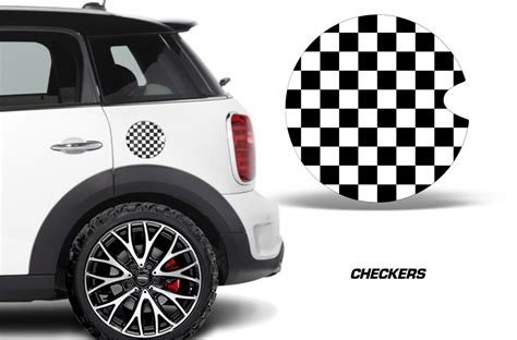mini cooper vinyl emblem graphics  gas cap