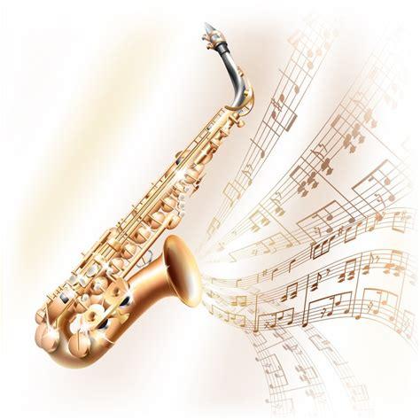 Vinilo Classical Saxofón Alto En El O Blanco Con Las Notas