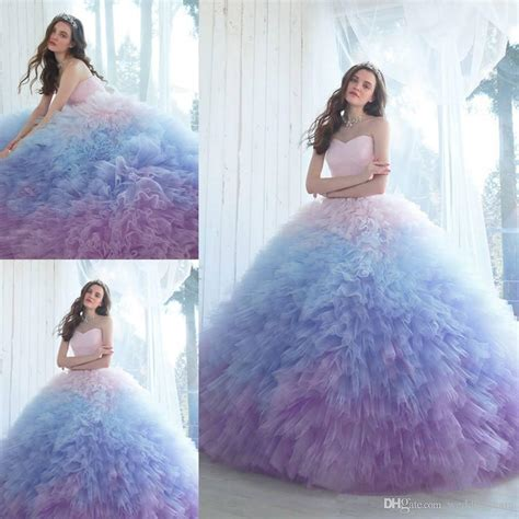 2018 Ombre Ball Gown Quinceanera Dresses Sweetheart