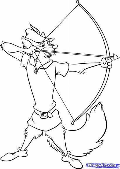 Robin Hood Draw Step Disney Drawing Cartoon
