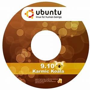 ubuntu 910 karmic koala cd dvd labels and stickers With cd disc stickers