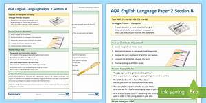 Aqa English Language Paper 2 Section B Support Guide