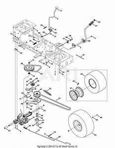 Troy Bilt 13wn77ks011 Pony  2012  Parts Diagram For Drive