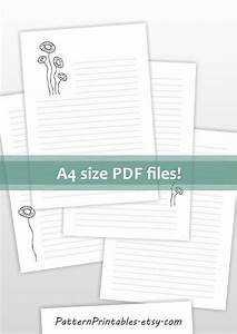 lined printable letter paper a4 size stationery digital file With a4 letter paper