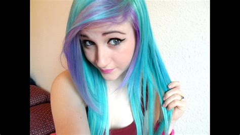 Dying My Hair Blue And Purple Youtube
