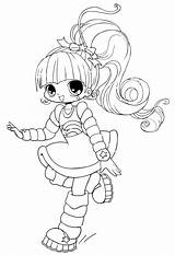 Coloring Pages Chibi Cute Printable sketch template