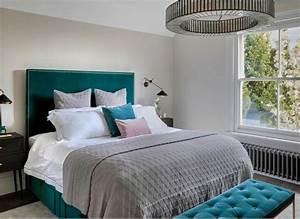 Elegant, Teal, Bedroom, Decor