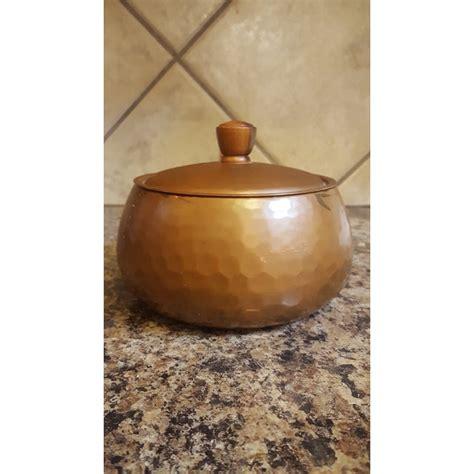stockli netstal hammered copper pot chairish