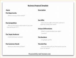10 best images of short business proposal template With business idea template for proposal
