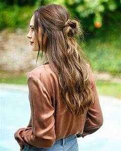 Every Day Hairstyles Half Bun Long Hairstyles 2017