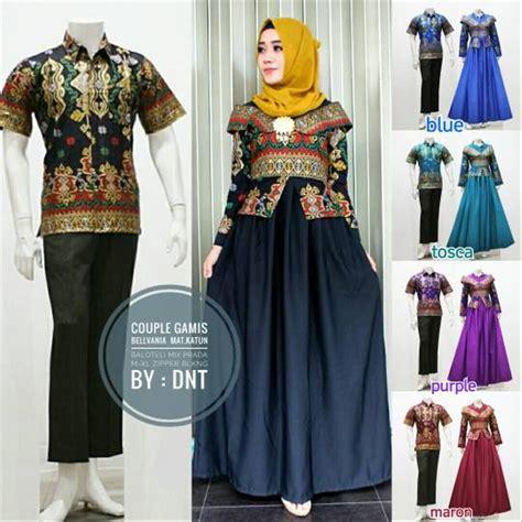 jual baju batik couple kebaya sarimbit model laluna  seragam pesta hijab modern kutubaru murah