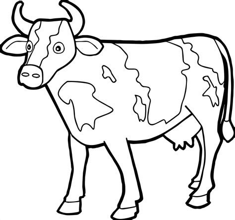 cow coloring page cow chicken coloring pages learny