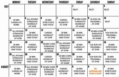 Plan Fitness Week Workout Gym Yoga Routine