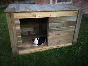 diy pallet dog house pallets dog houses and pallet dog With how to build a large dog house